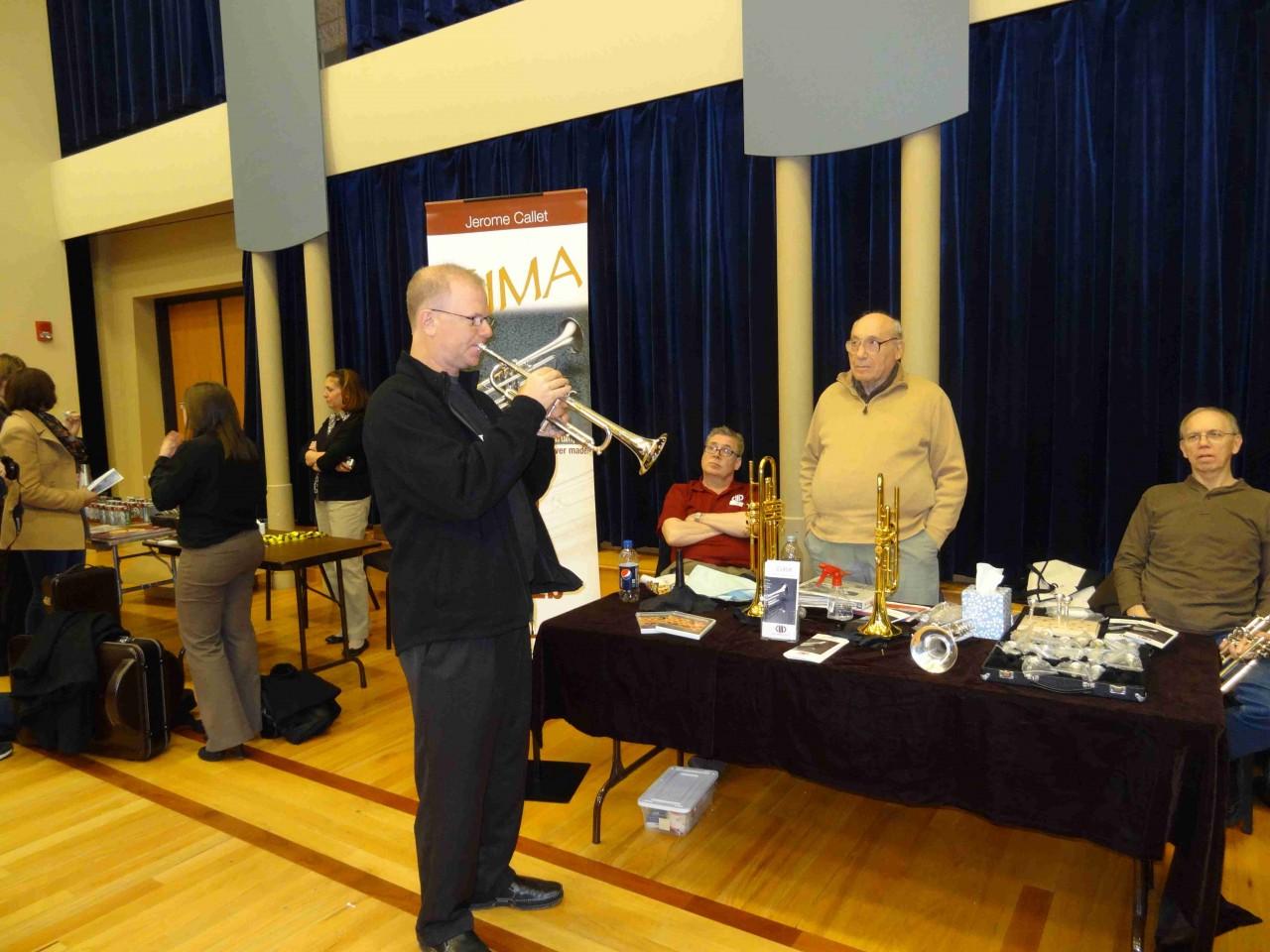Steve Wigler auditions a trumpet