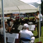 The band in action, Gettysburg, June 16, 2007