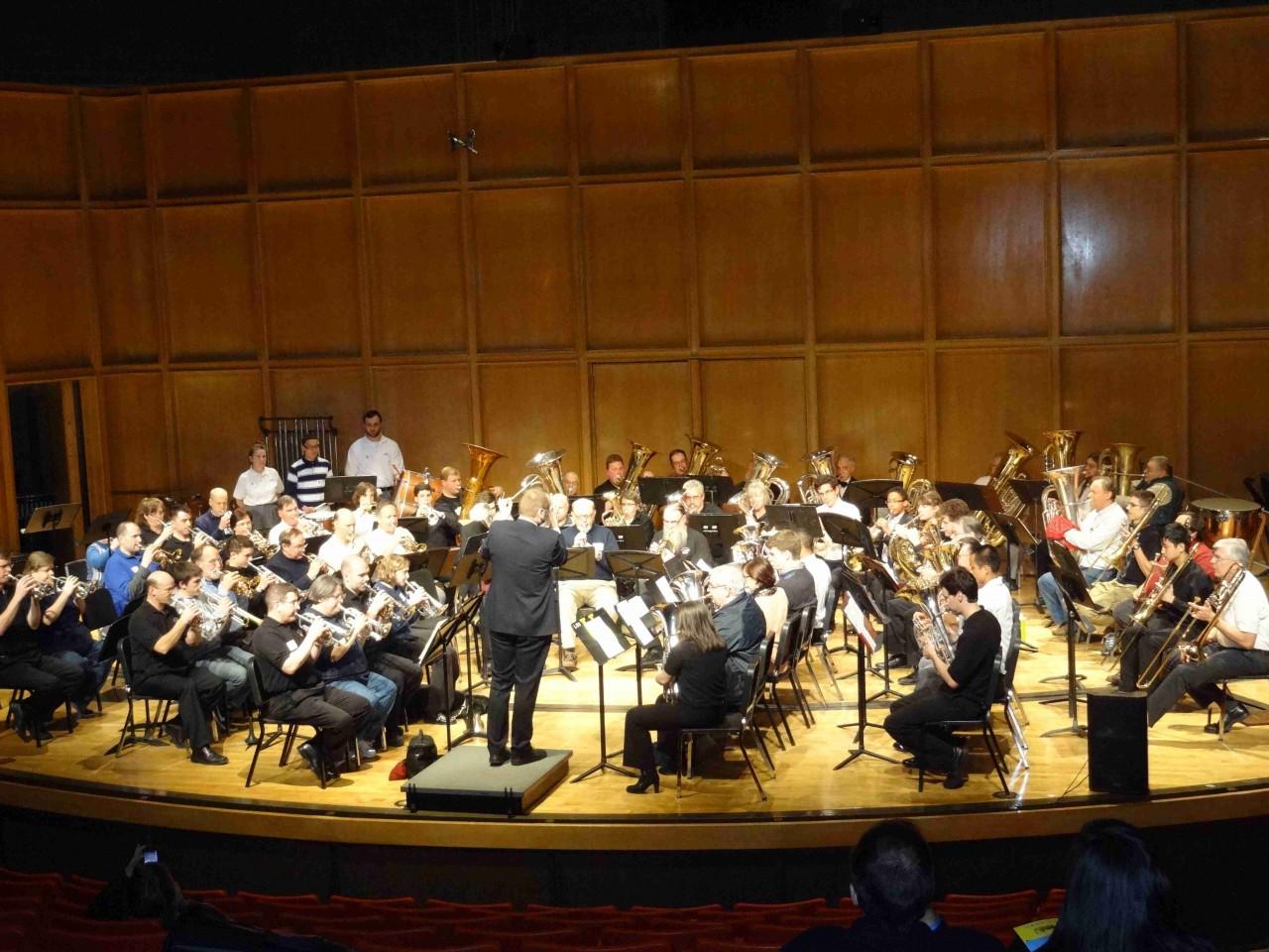 Mass brass performance