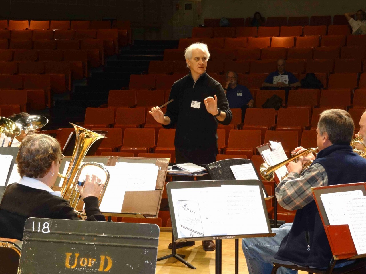 Rockville Brass Band Rehearsal with Dr. James Gourlay